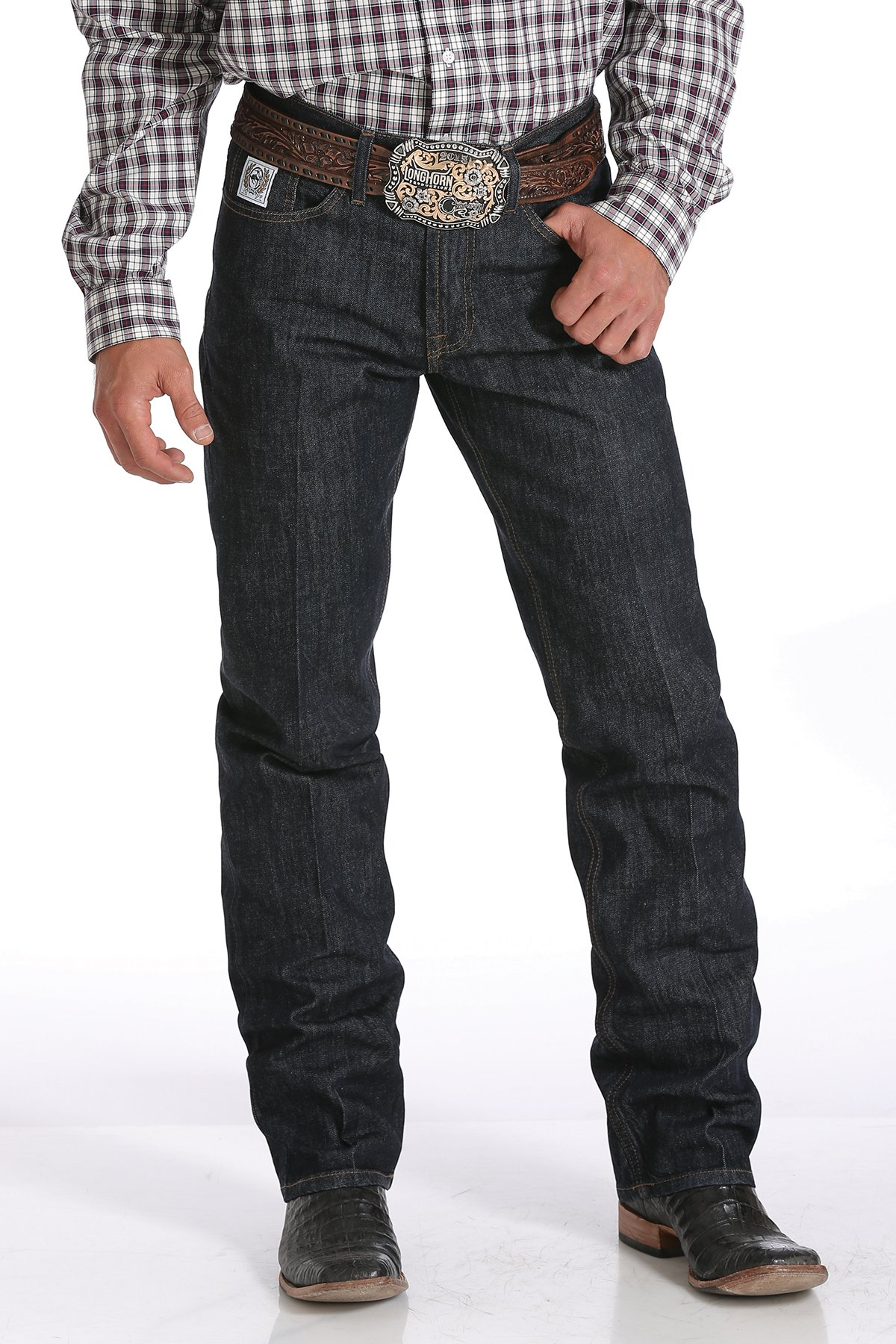 cinch jeans mens relaxed fit white label jeans - dark rinse FUBFDKT