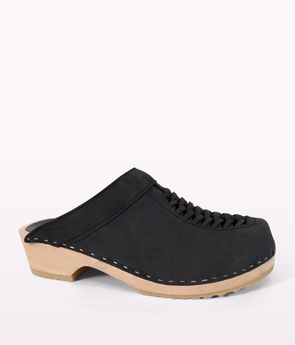 clogs for men menu0027s black slip on suede clogs | colt | sandgrens clogs RNUZYOS