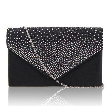 clutch bags ladies stylish evening satin bridal diamante clutch bag shoulder bag  crossbody bag TLGSKXI