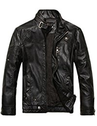 coats for men chouyatou menu0027s vintage stand collar pu leather jacket RULYDXG
