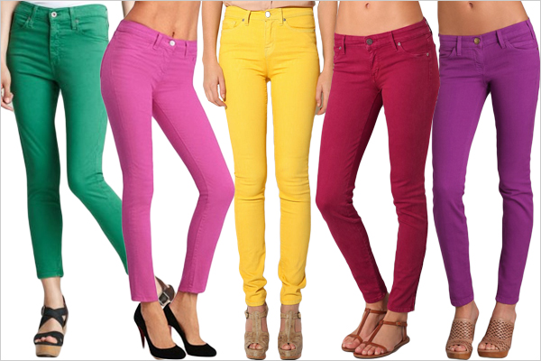 Celebrate Your Festival with Colored Jeans