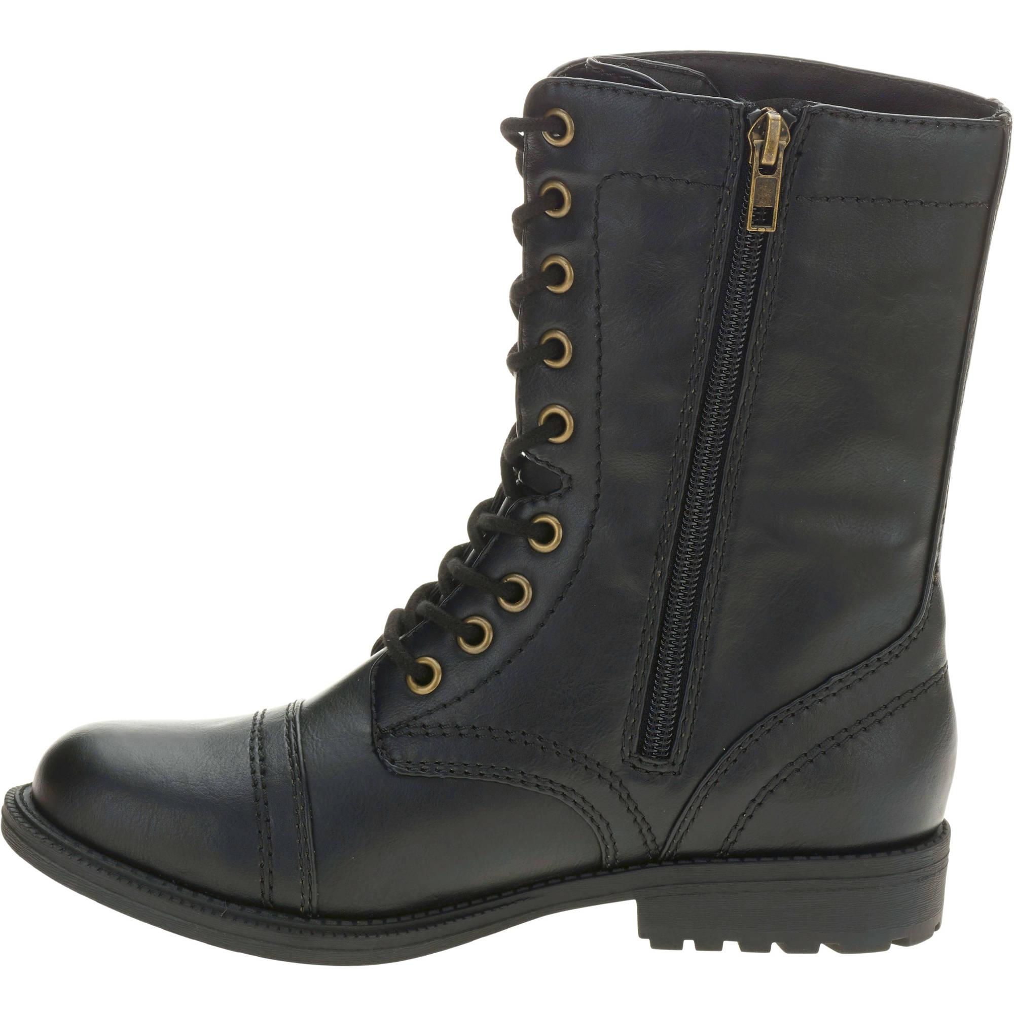 combat boots faded glory womenu0027s combat boot - walmart.com ICYGYEP
