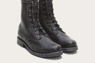 combat boots frye | veronica combat - black UETCHEL