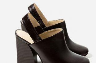 comfortable heels zara leather slingback high heel shoes BCFDRHL