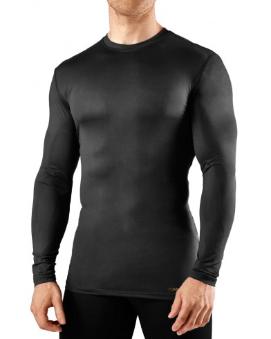 compression shirt menu0027s big u0026 tall core compression long sleeve crew neck shirt - extended  sizing WQLZFHO