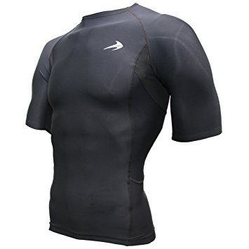 compression shirt short sleeve top (black s) best running t-shirt u0026  basketball VYURZUB