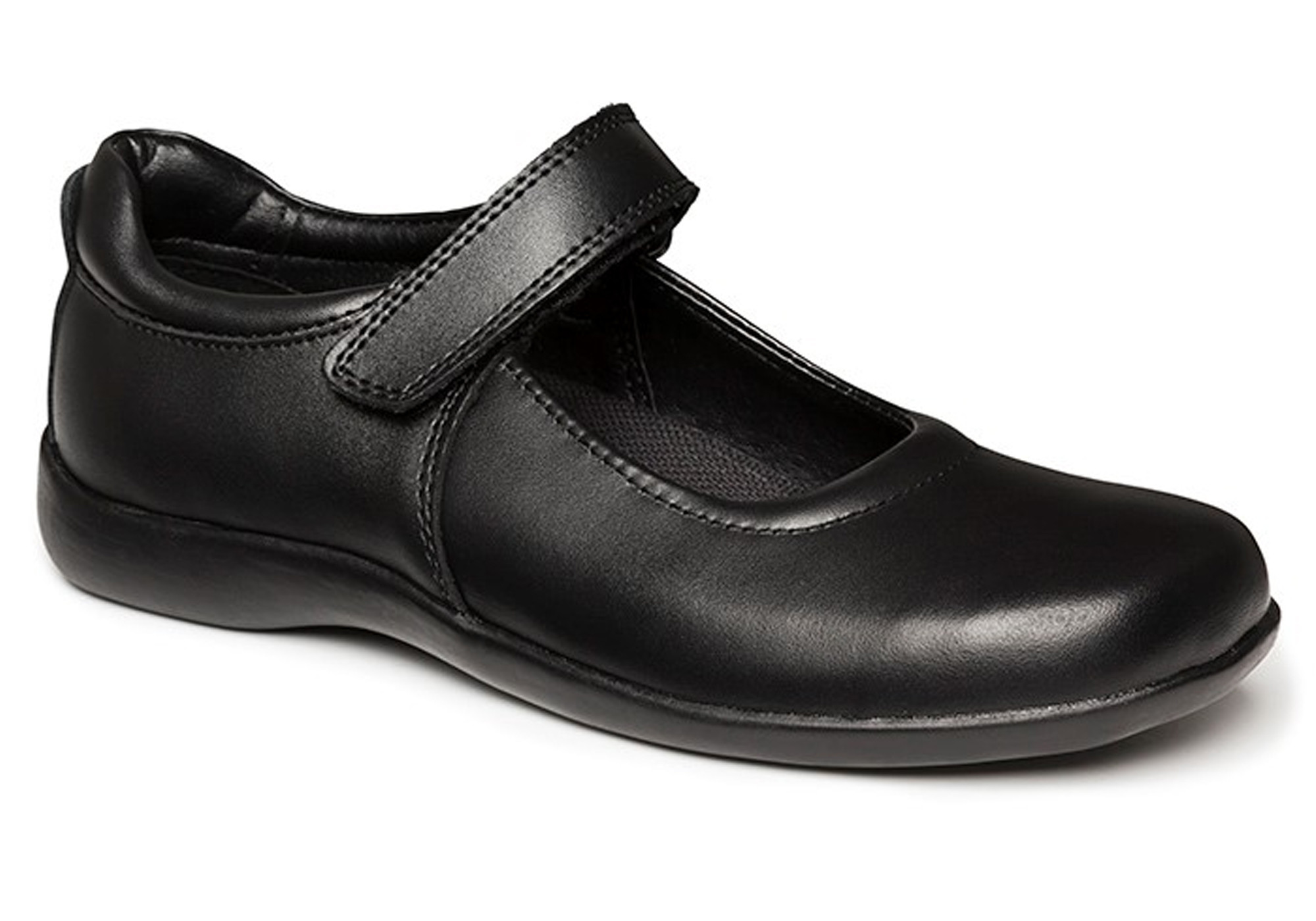 cool black school shoes - clarks elise kids girls leather school shoes EQNOISL