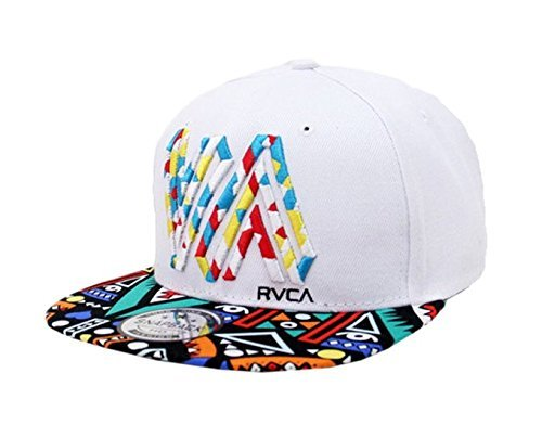 cool hats doture mens fashion va muliticor print 6 panel street dancing hat baseball  cap white VUZQLEK
