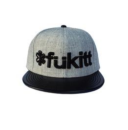 cool hats edgy unisex faux leather visor cap FMRITRK