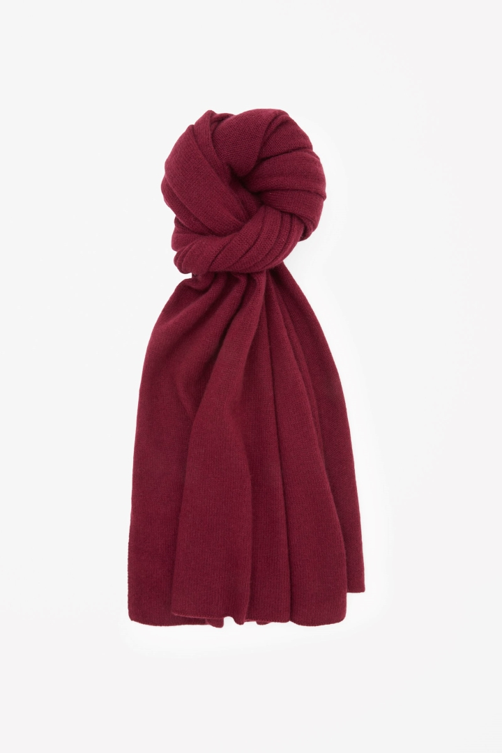 cos image 14 of cashmere scarf in maroon WHSARII