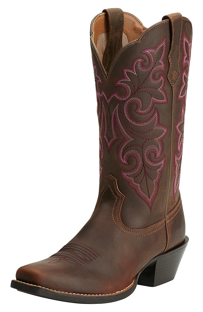 cowgirl boots ariat womens round up square toe cowboy boots - powder brown QTQXCAI
