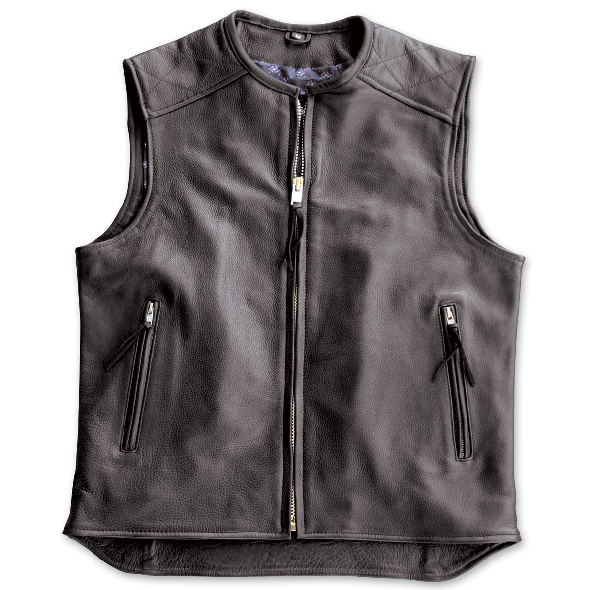 crank u0026 stroker supply hardball motorcycle black leather vest ... MQNDFWV