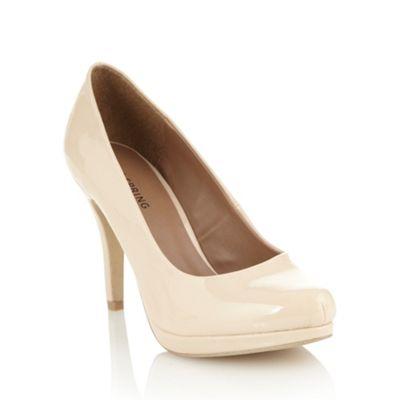 cream shoes £33.60 cream patent high heeled court shoes at debenhams.com LOALQEX