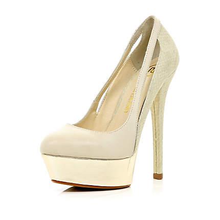 cream shoes cream cut out side court shoes - shoes / boots - sale - women SIDQSEG