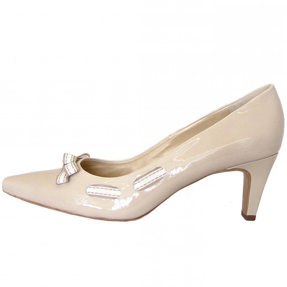 cream shoes milli lana crackle patent semi pointed court shoes PGZZMUB