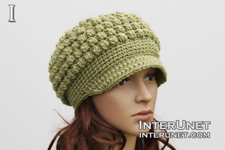 crochet hat hat-cluster-stitch OGNOTLU