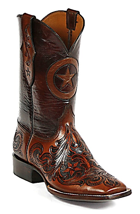 custom boots ... hand tooled with texas star boots MLRQHSQ