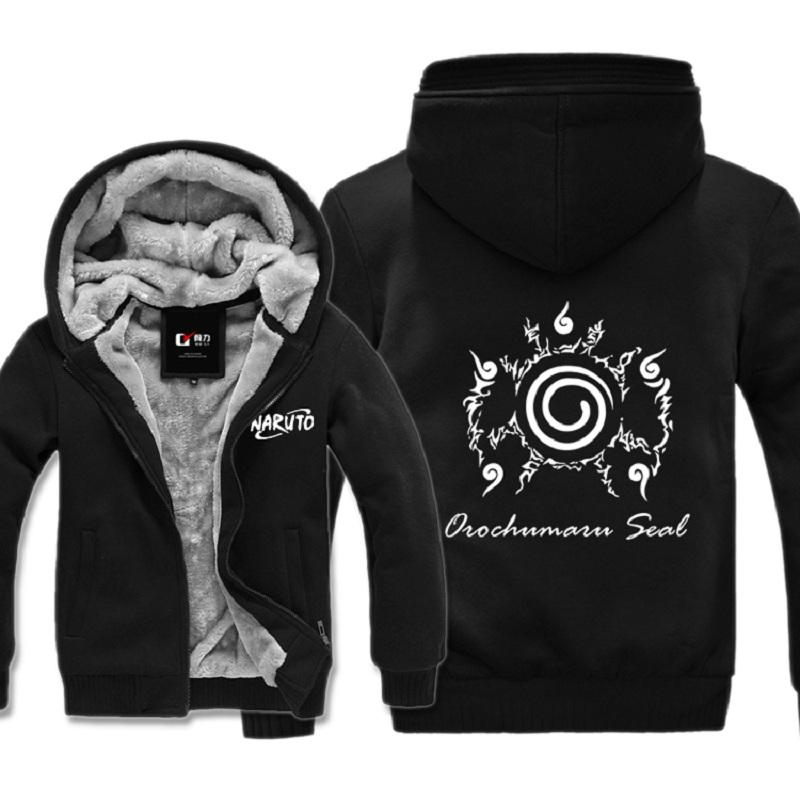 custom hoodies new twitch veste woolen coat velvet men winter wool liner warm jacket  hoodies naruto VEKVAIZ