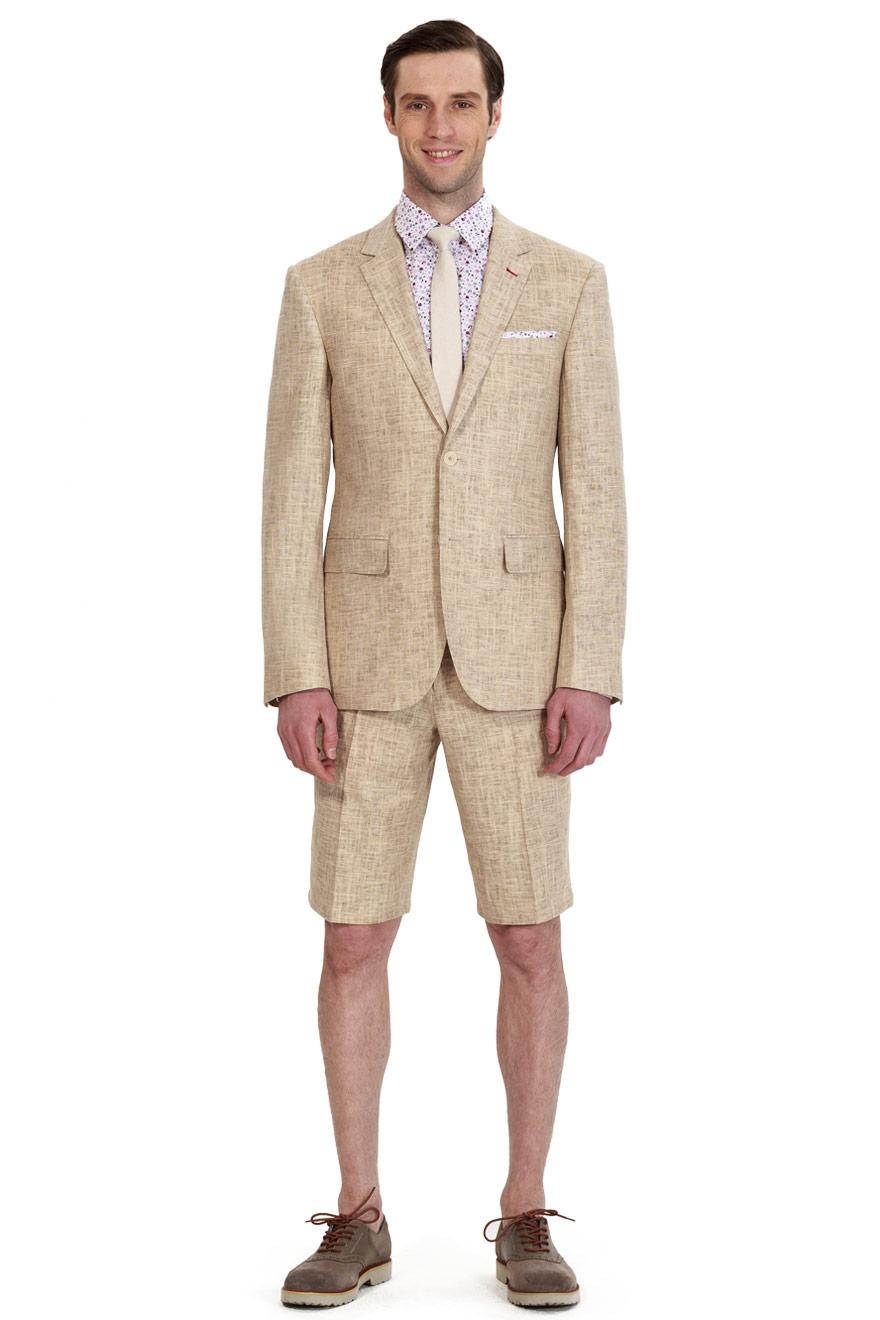custom linen suits for men. fashion camel suit with shorts XVJGQFL