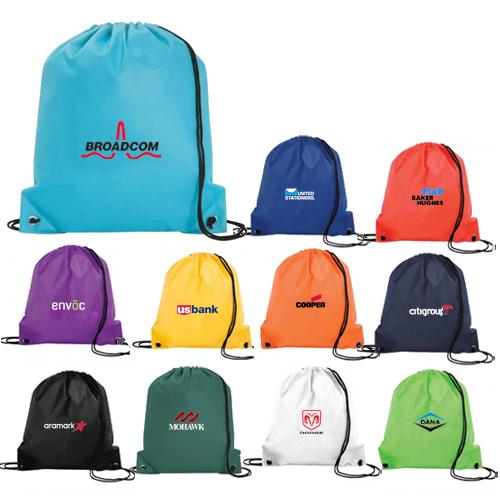 custom printed polypropylene drawstring bags OJBOXGT