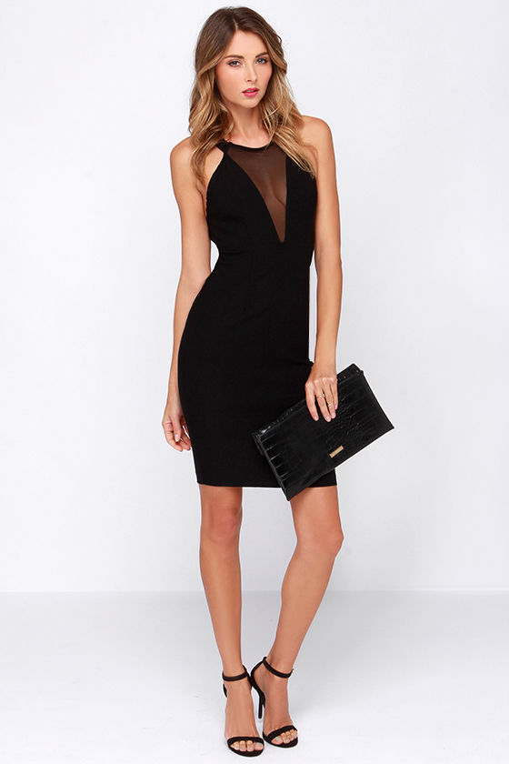 cut out dresses sexy black dress - cutout dress - halter dress - $44.00 QXYKGTE