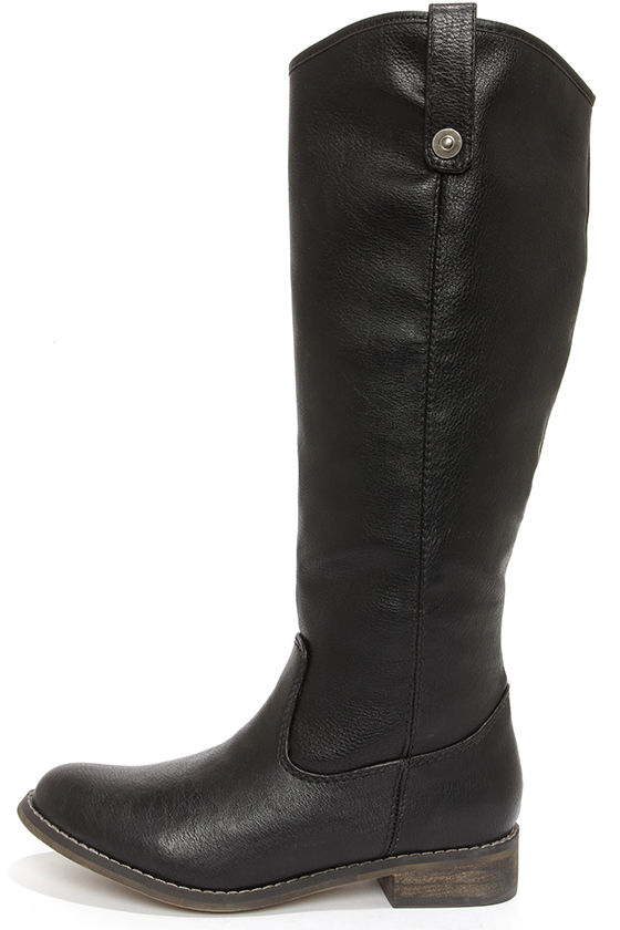 cute black boots - knee high boots - riding boots - $45.00 VXJZUTU