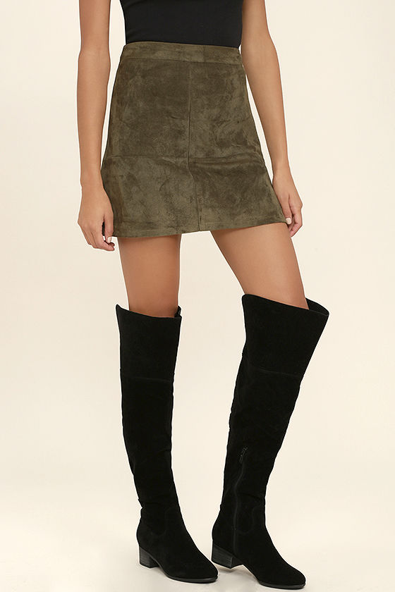 cute black boots - vegan suede boots - over the knee boots - $43.00 PKSKZYG