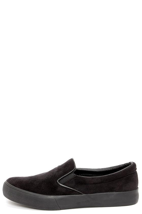 cute black sneakers - slip-on sneakers - loafers - $18.00 LXUAQTJ