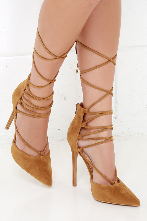 The perfect pair of high heeled brown heels