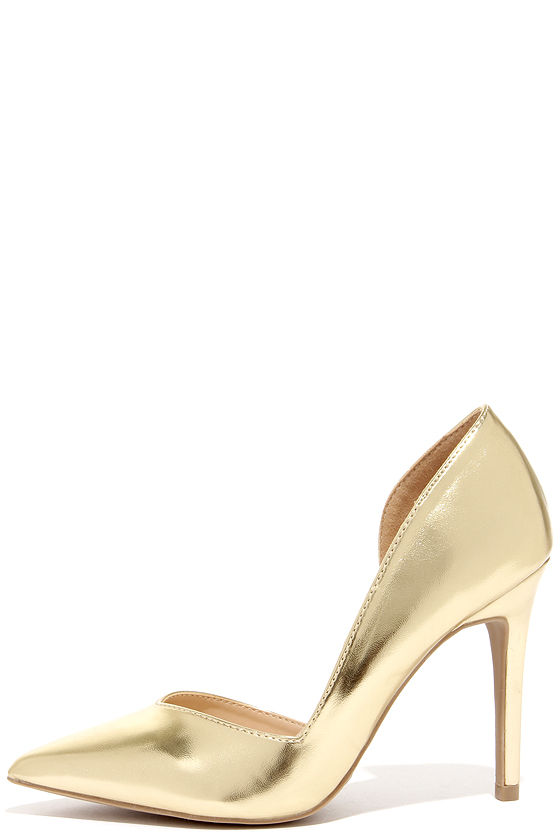 cute gold pumps - du0027orsay pumps - du0027orsay heels - $23.00 IIEIUCD