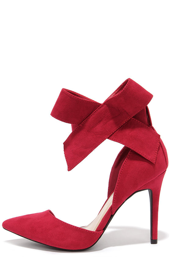 The sensational red pumps for women