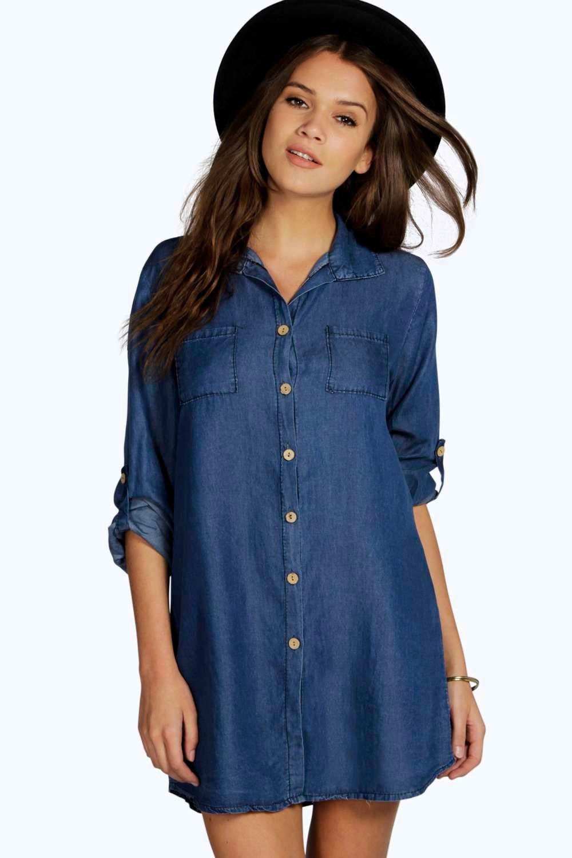 denim dress lara denim shirt dress. hover to zoom SVBCMYT