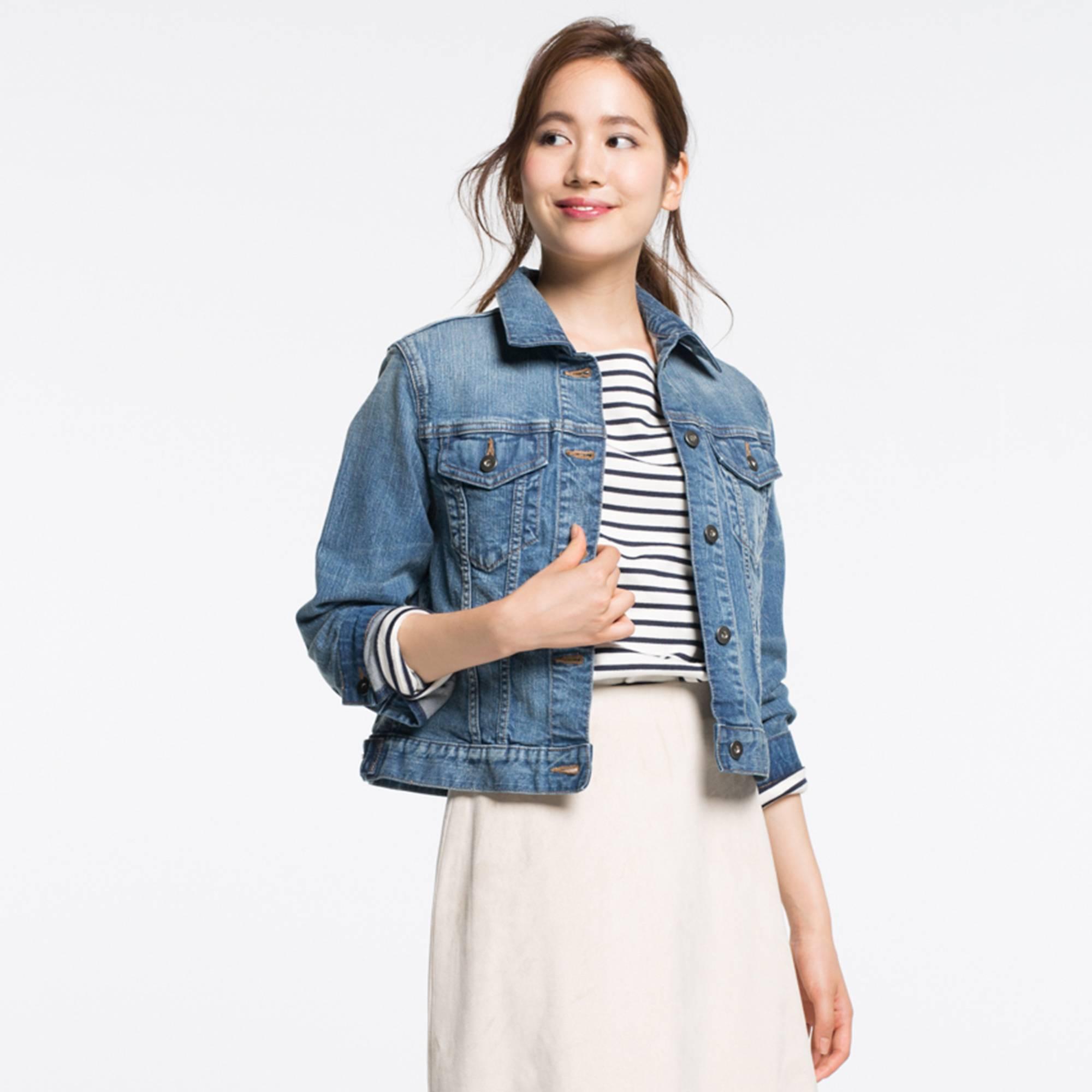 denim jackets for women women denim jacket, blue, large MVDQPKT