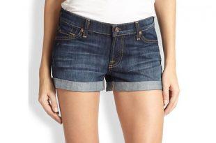 denim shorts for women ... 7 for all mankind womenu0027s roll-up denim shorts RSULHGI