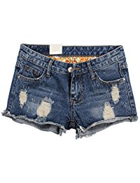 denim shorts for women happyyip womens vintage low waist fringe denim shorts jeans vary styles DBRPCKO