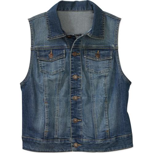 denim vest for women faded glory womenu0027s denim vest YAEHSHZ