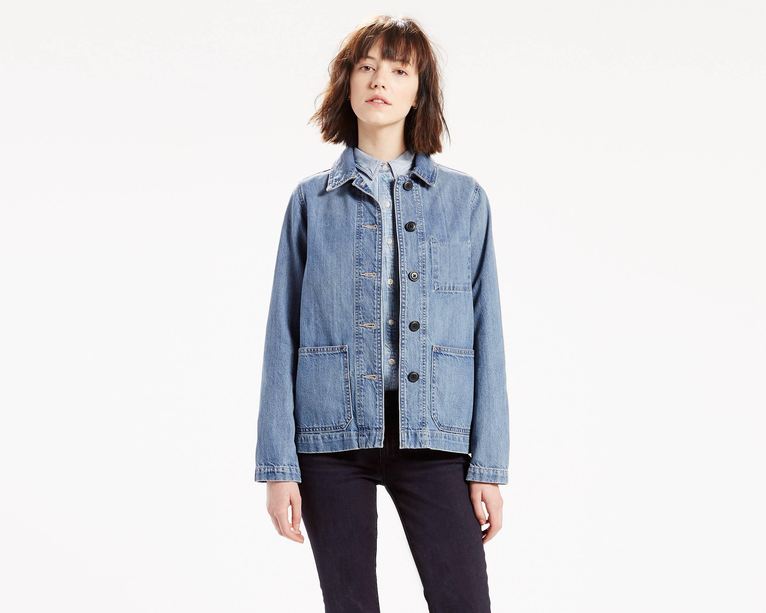 denim vest for women jackets for women - shop womenu0027s casual jackets | leviu0027s® ZYJZURB
