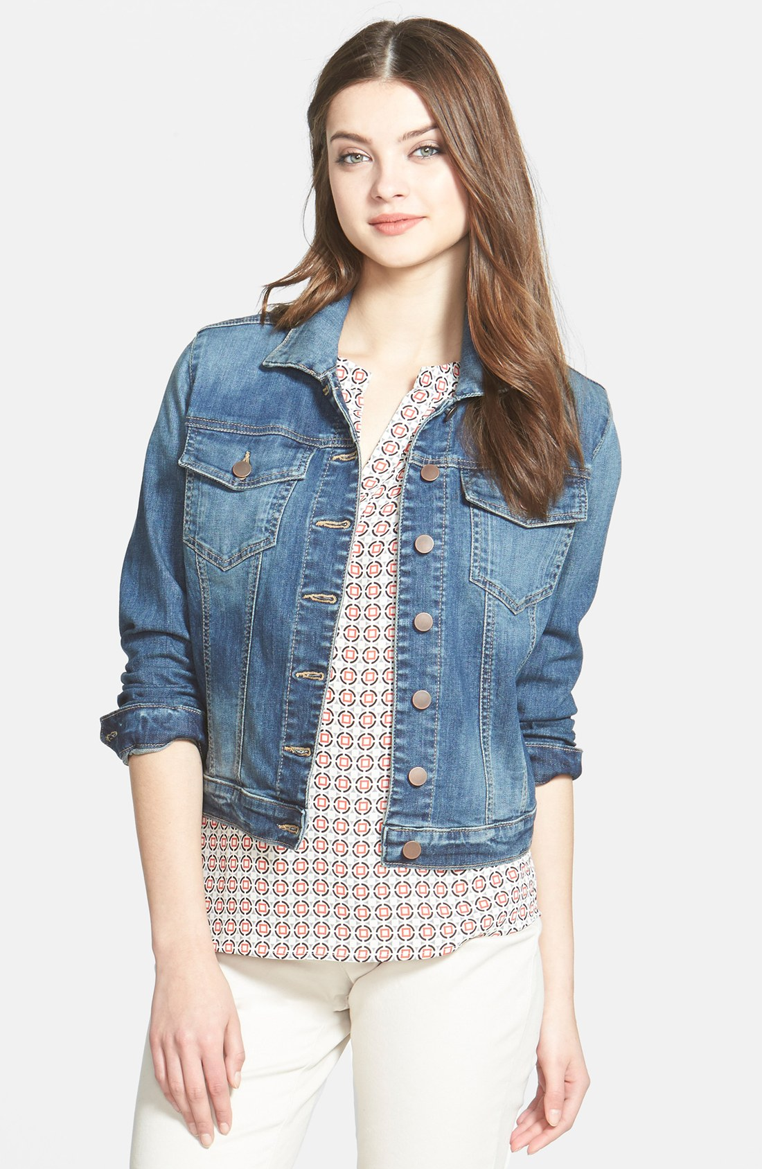 denim vest for women kut from the kloth denim coats u0026 jackets for women | nordstrom BEKANCW