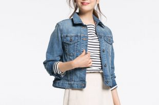 denim vest for women women denim jacket, blue, large EWEJURG