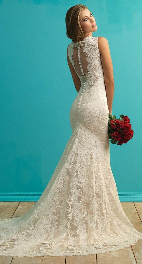 designer:riki dalal allure bridals fall 2015 lace wedding dress OVISVRA