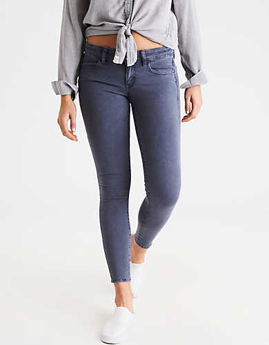 destroyed jeans ae denim x super low jegging AXZGXXH