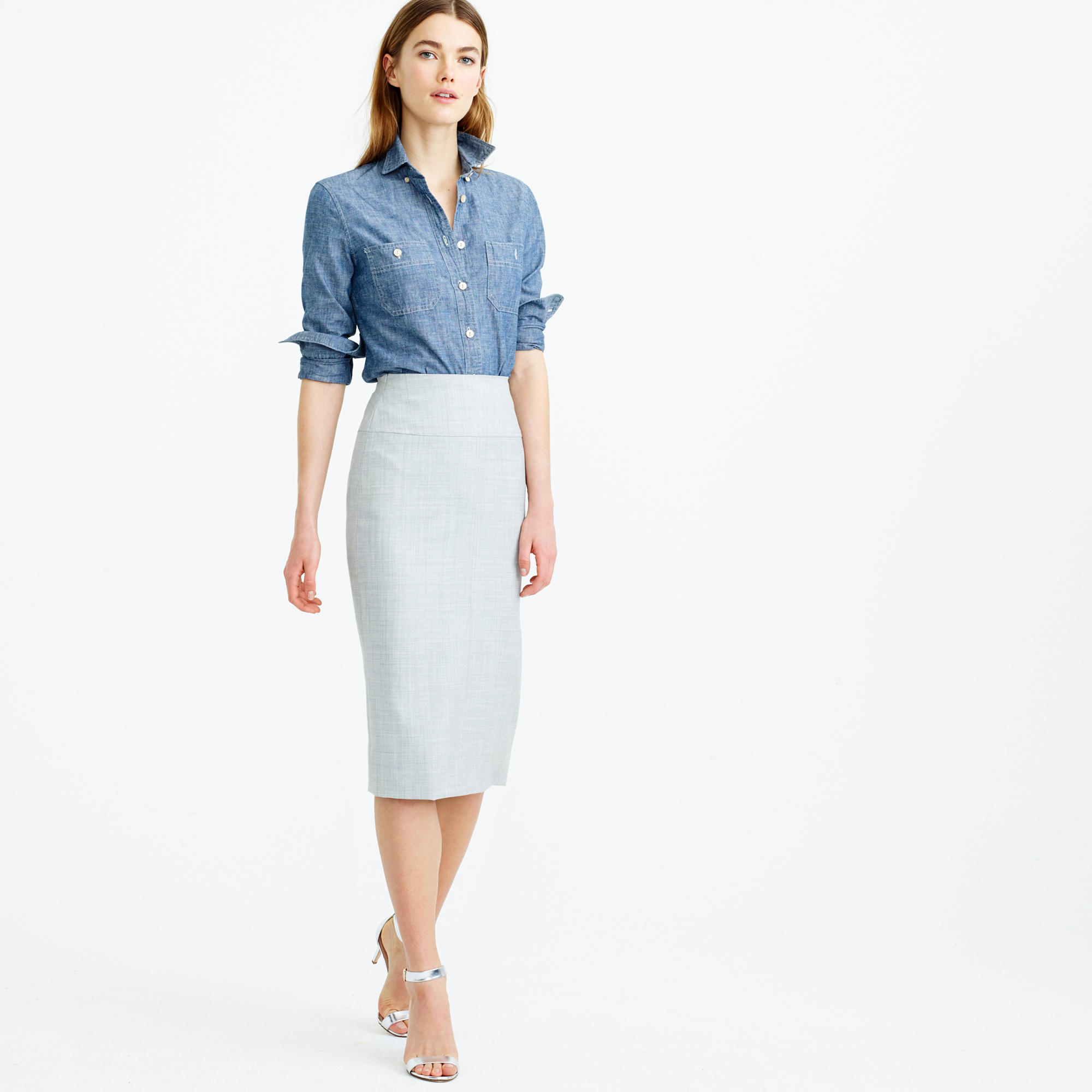 director pencil skirt in super 120s wool LZNHTNS