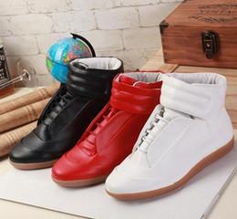 discount gold margiela sneakers margiela promotion!! fashion sneakers  genuine leather hi-stree hip VGEWPRA