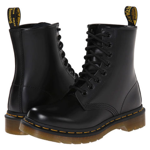 dr martens 1460 black leather combat boots KZYQOTZ