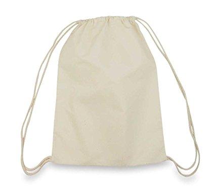 drawstring bags drawstring bag backpack sack made of cotton in natural white NPYCUGQ
