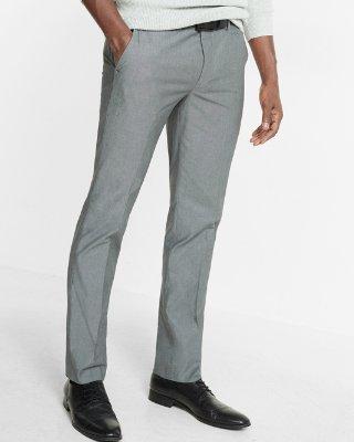 dress pants ... skinny innovator gray chambray dress pant BDIQBYW