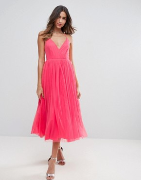dresses for wedding guests asos pinny extreme tulle mesh midi dress BJCKGZT