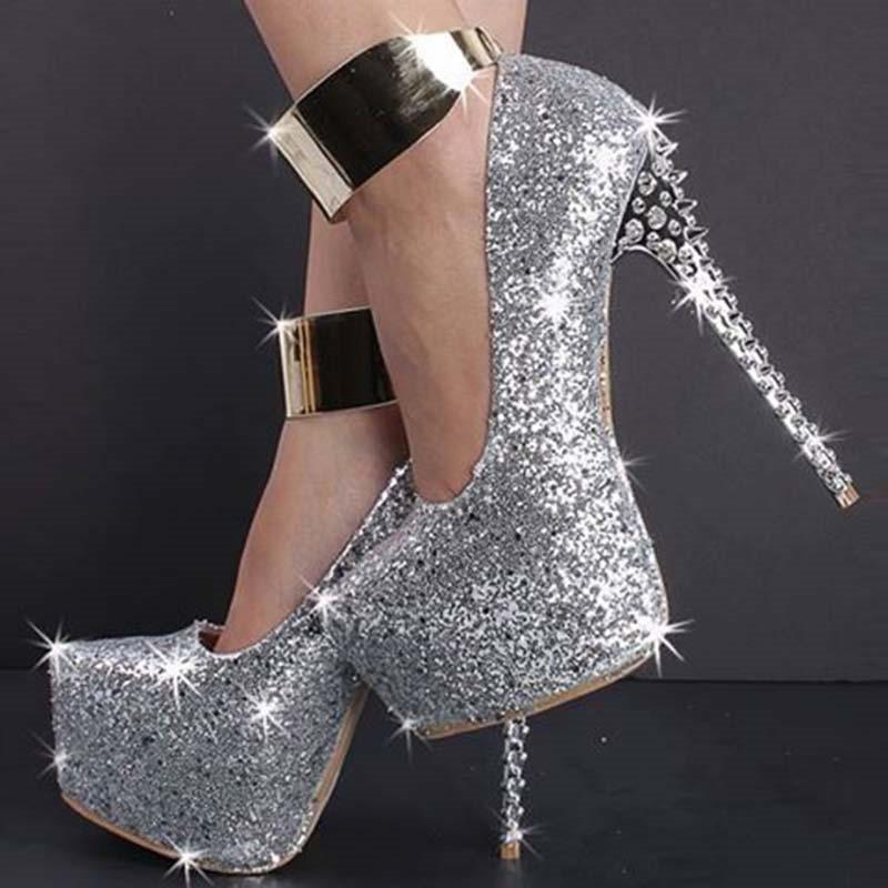 dresswe.com supplies new fashion shining stiletto platform high heel prom  shoes prom shoes KXMBAOW