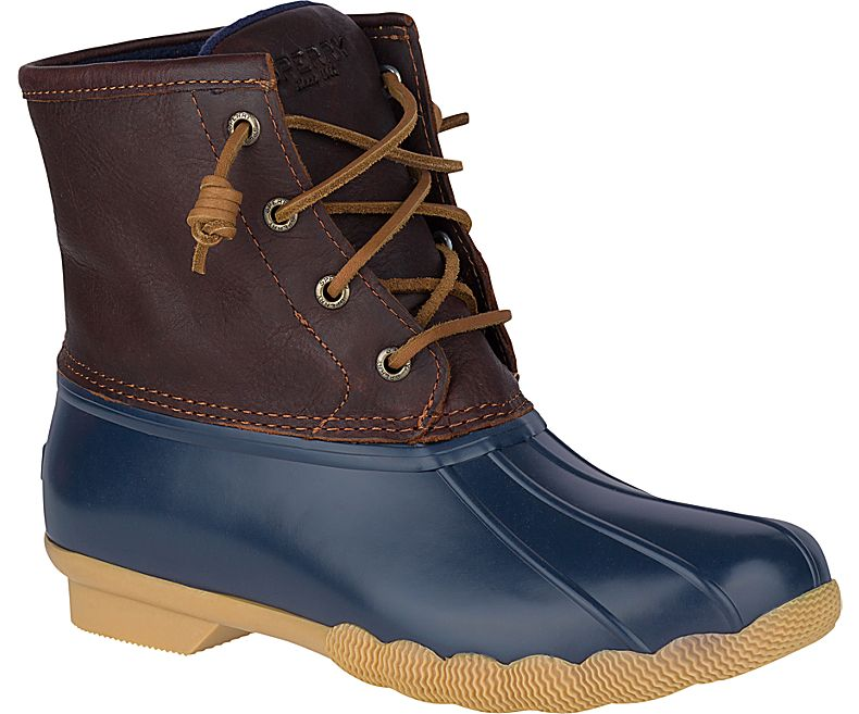 duck boots saltwater duck boot, tan / navy, dynamic ... OEQGNPF