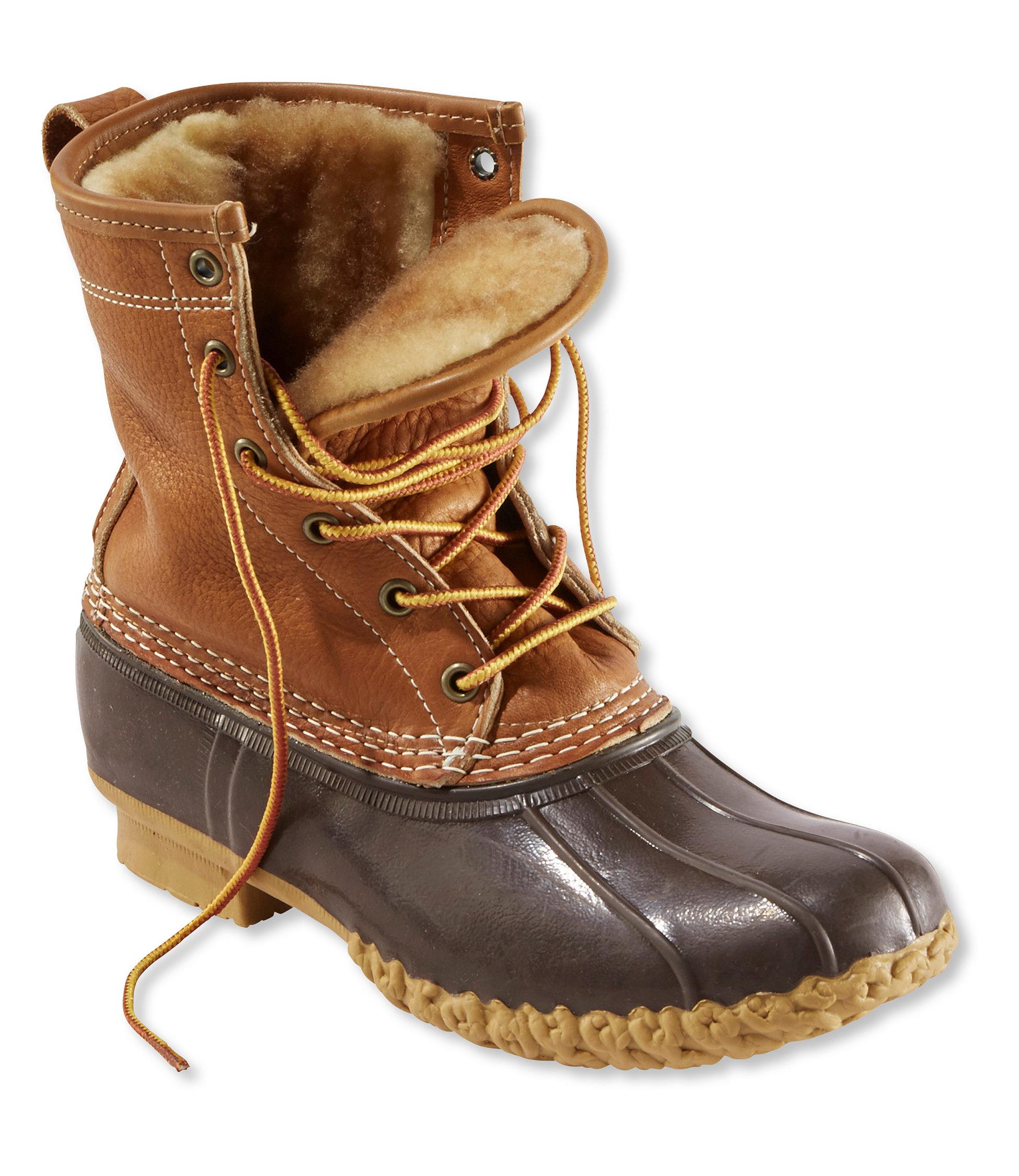 duck boots womenu0027s l.l.bean boots, 8 BITUFVW
